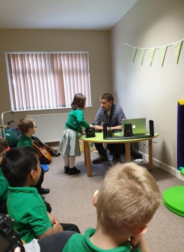 WMC visits Wrexham Early Years Centre