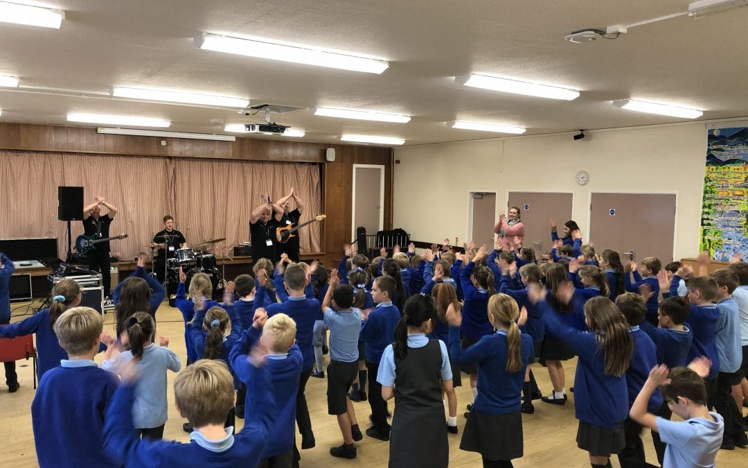 Make Some Noise visits Holt CP School
