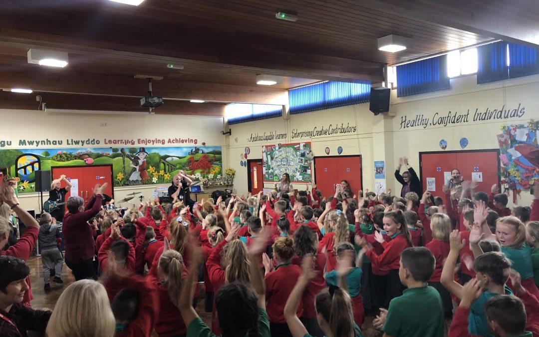 Make Some Noise visits Ysgol Cefn Mawr